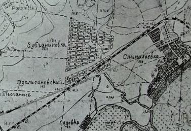 Карта района Зубчаниновки, 1928 г.