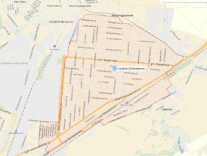 Карта границ п.Зубчаниновка