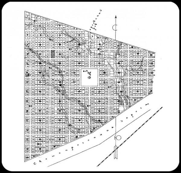 План Зубчаниновки - 1910 год.