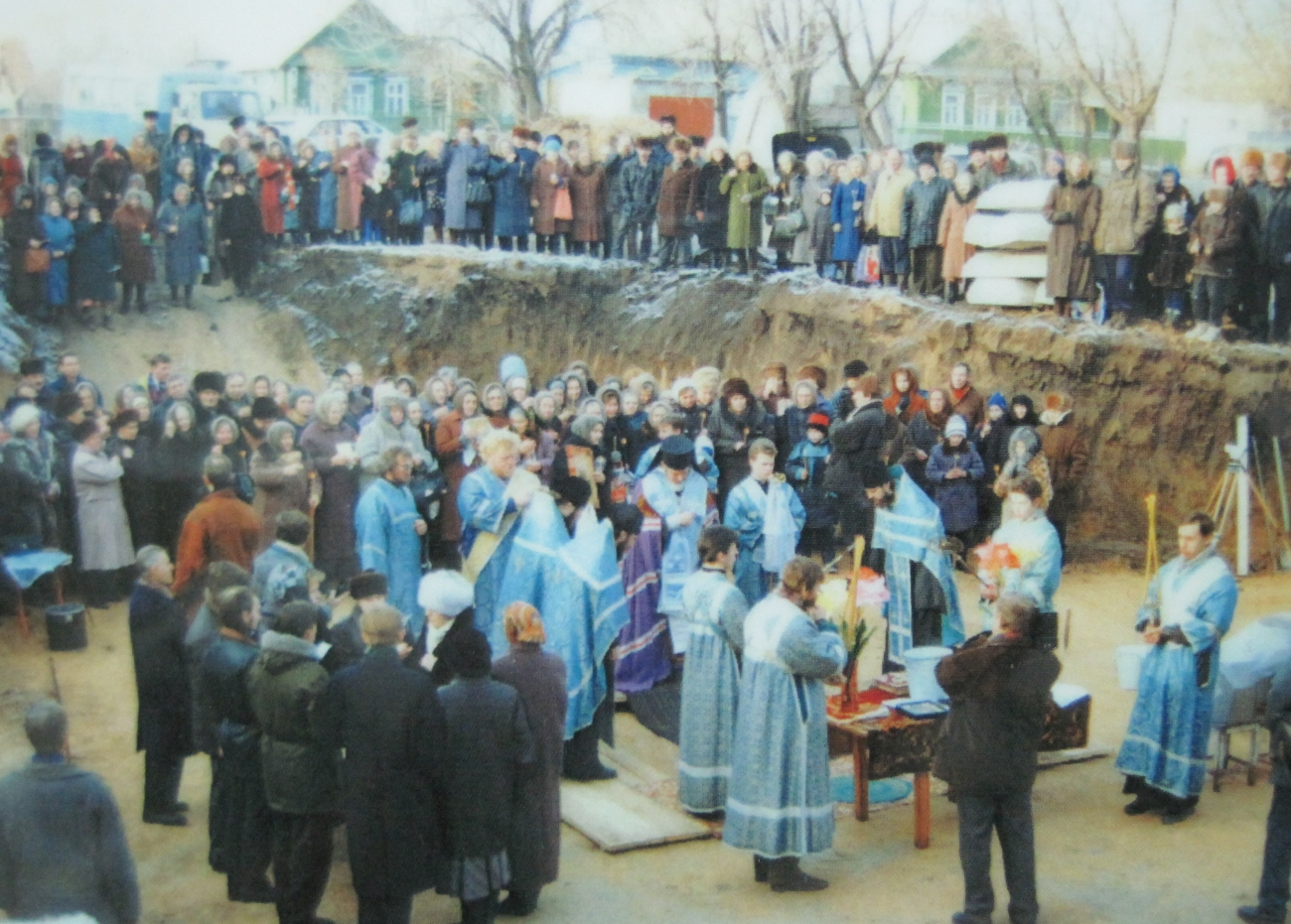 Молебен на основании новго Храма в Зубчанинвке.