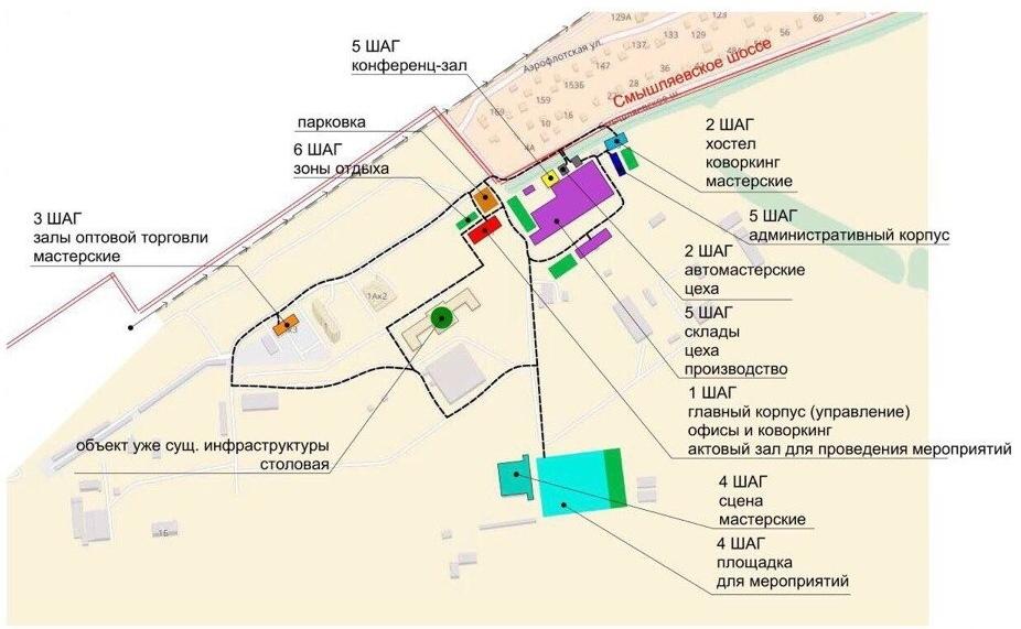 АртЗавод в Зубчаниновке (Самара) - схема