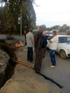 Авария на электролинии в Зубчаниновке