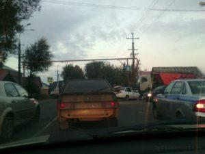 Фото аварии на Макаренко в Зубчаниновке, Самара. 27 сентября 2017 г.
