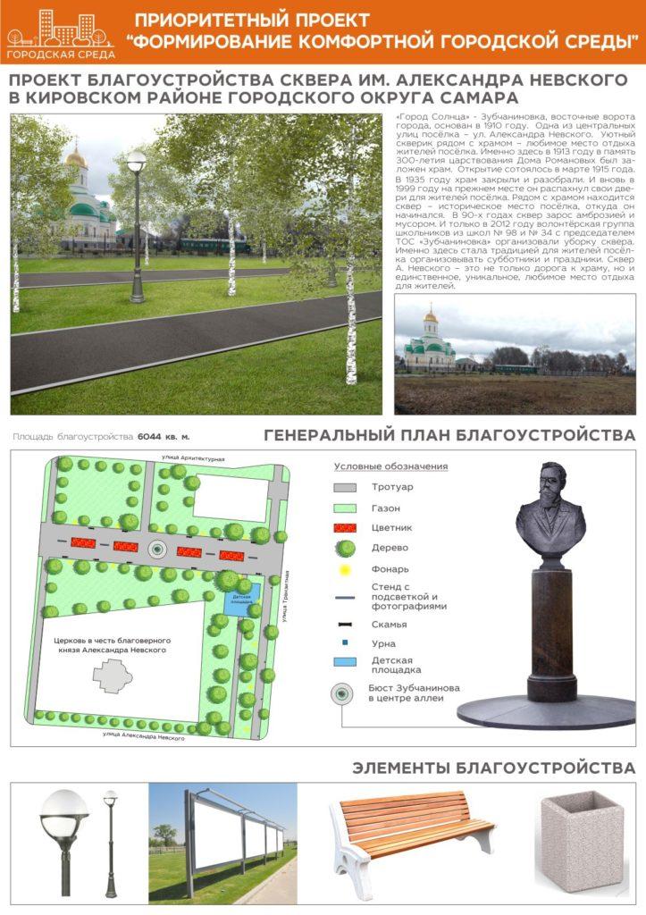 Проект благоустройства в Зубчаниновке.