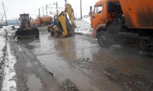 Фото дороги у переезда в ЗУбчаниновке - март 2019