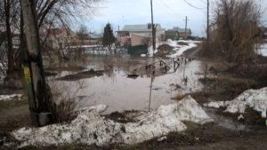 Подтопления Орловки в Зубчаниновке - апрель 2019